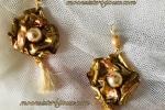 Orecchini tecnica esclusiva , oro e perle