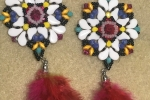 Orecchini tessitura di perline ColorPop
