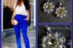 Orecchini Valentina realizzati a mano con perline