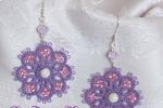 Orecchini violetto al chiacchierino, perla in Argento 925