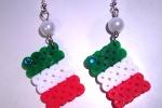 """Orecchini """"Viva l'Italia!"""" in hama beads"""