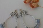 Orecchini wire con perle in agata