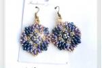 Orecchini pendenti con perline e cristalli swarowski