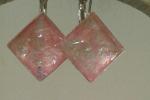 Orecchini in metallo senza nichel  dal colore rosa perla