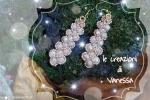 Orecchini eleganti e brillanti realizzati a mano con perline e cristallo