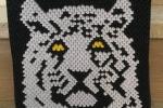 Ritratto di tigre realizzato origami 3D