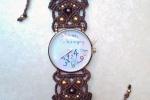 Orologio con cinturino in macramé