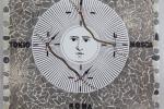 Orologio crono realizzato in mosaico