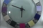 Orologio da parete piastrelle di vetro multicolor