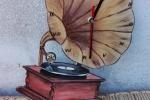 Orologio da parete grammofono