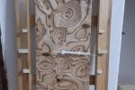 Orologio in legno fatto a mano con meccanismo al quarzo