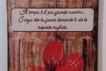 Orologio Verticale da muro - Tulipani