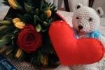Orsetto amigurumi con cuore