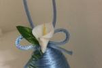 Ovette pasquali in cordoncino con fiori