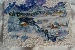 Paesaggio di montagna su tela