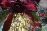 Palla natalizia con led cm 12