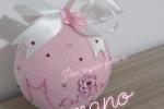 Palla rosa personalizzata in pannolenci