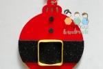 Palline Babbo Natale con acrilici, gomma eva e carta