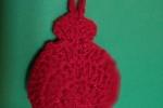 Palline decorative in lana fatte a mano a uncinetto