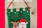 Pannello di pannolenci con la renna Rudolph e babbo Natale
