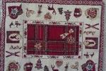 Pannello decorativo natalizio in tessuto di cotone e poliestere