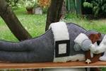 Para spifferi decorativo Babbo Natale che dorme in feltro