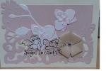 Partecipazione Matrimonio in carta perlata in tema rose