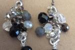 Parure con filo di alluminio e cristalli / perle