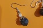 Parure collana e orecchini di Lapislazzuli e Perle