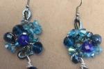 Parure collana e orecchini in filo di alluminio e cristalli