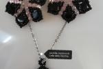 Parure nero/rosa handmade