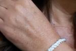 Parure orecchini e bracciale con stella marina fatta a mano