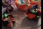 Gallinelle fatte a mano in feltro Pasqua