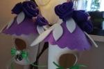 Casetta fatta a mano in feltro Pasqua
