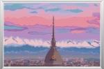 "Pattern punto croce ""alba su Torino"""