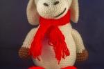 Pecorella Lilly  amigurumi, altezza 40 cm, in lana