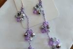 Pendenti Eleganza con mezzi cristalli color viola