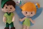 Peter Pan e Trilly realizzati in pannolenci
