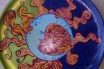 Piatto di terracotta dipinto