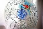 Piatto in vetro-vetrofusione artistica