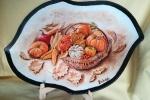 Piatto Zucche dipinto a mano