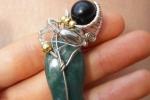 Pietra Giada, ciondoli pietre, pendenti, fatto a mano