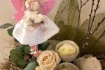 Pigottina in varie combinazioni di coloro bianco, rosa, lil