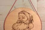 Pirografia Babbo Natale