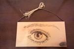Pirografia da parete Occhio