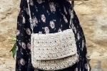 Pochette Crochet con cristalli colorati