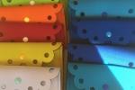 Pochette in neoprene bicolore