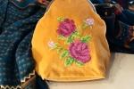 Pochette in velluto in stile vintage realizzata interamente a mano
