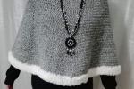 Poncho grigio cappa mantella