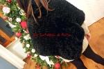 Poncho in lana con effetto pelliccetta ecologica!